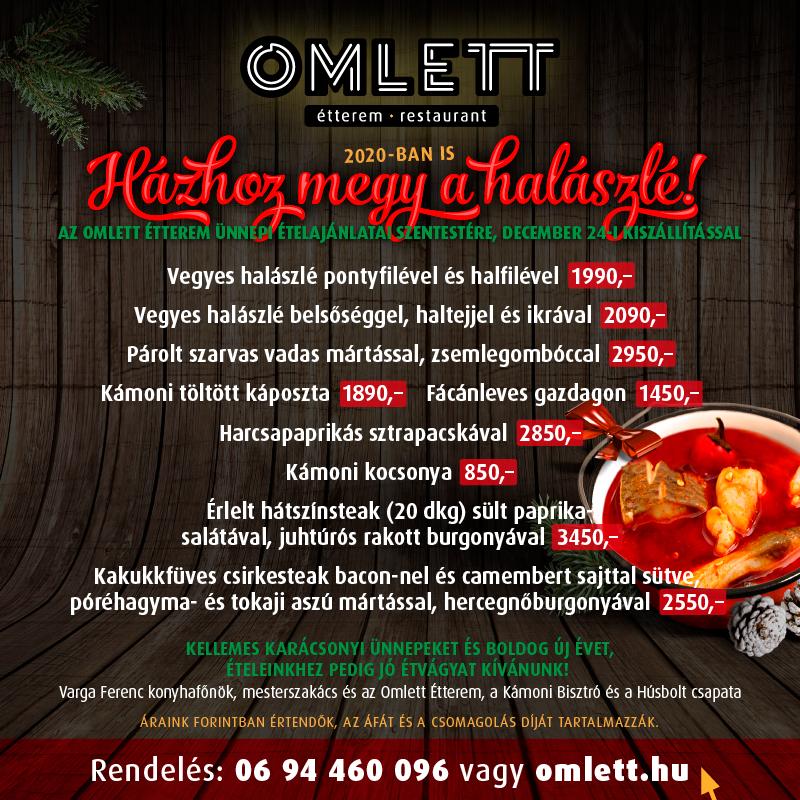 Karácsonyi menü rendelés kínálat